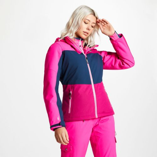 Women's Purview Ski Jacket - Fuchsia Blue Wing Cyber Pink